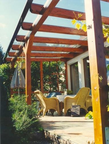 terrassendach aus holz und glas blascheck tischlerei. Black Bedroom Furniture Sets. Home Design Ideas