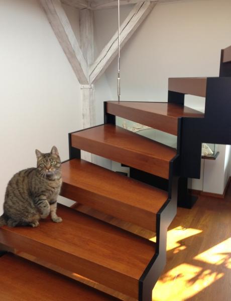 Stahl Holz Treppe stahl holztreppe mit katze blascheck tischlerei
